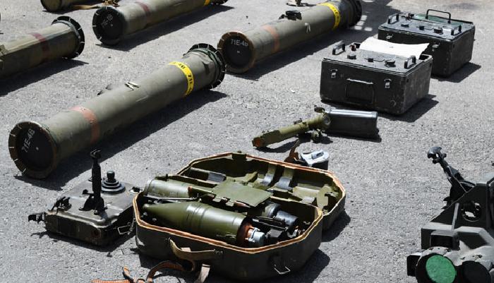 أسلحة وذخائر من مخلفات الإرهابيين في المنطقة الجنوبية