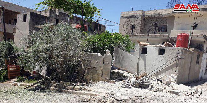 """سقوط قذائف """"النصرة"""" على عدة بلدات بريف حماة"""