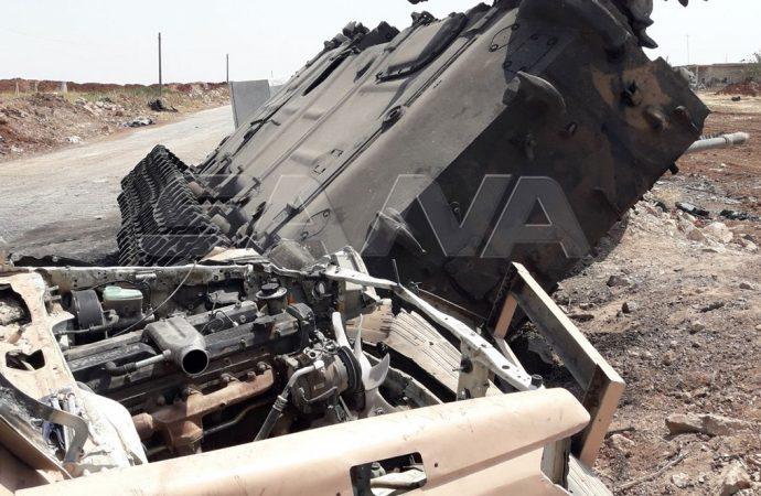 مشاهد ميدانية من معارك الجيش في ريف إدلب (صور)