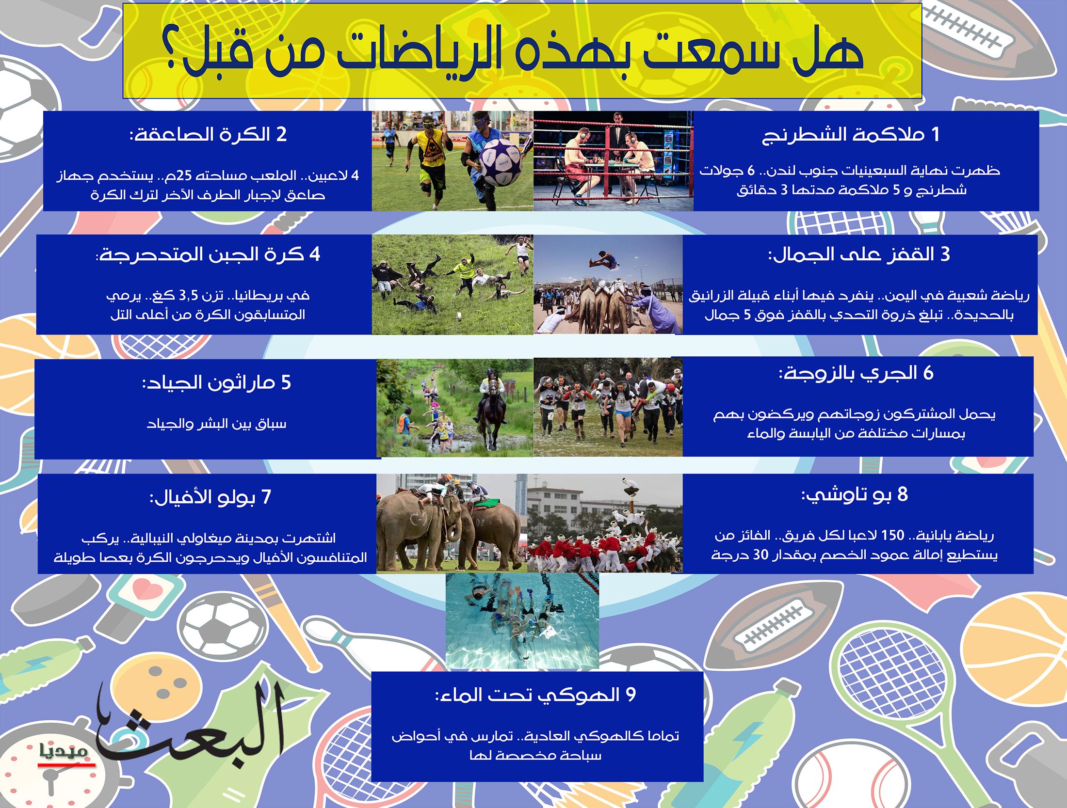 أغرب الرياضات في العالم