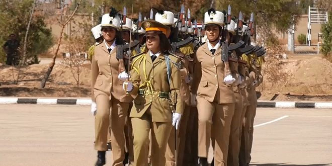 تخريج دفعة من طالبات الكلية العسكرية للبنات