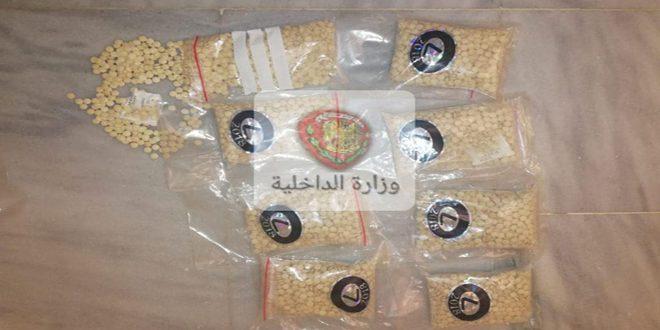 ريف دمشق.. ضبط آلاف الحبوب المخدرة