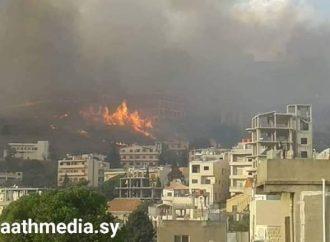 الحرائق في مرمريتا مستمرة وتقترب من المنازل