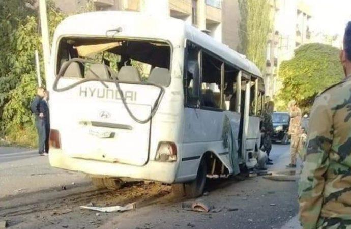 انفجار عبوة ناسفة في باص مبيت غربي دمشق