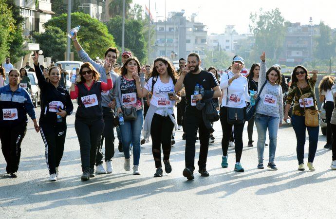 ماراثون السلام من أجل سورية.. أكثر من 1400 مشارك ومشاركة