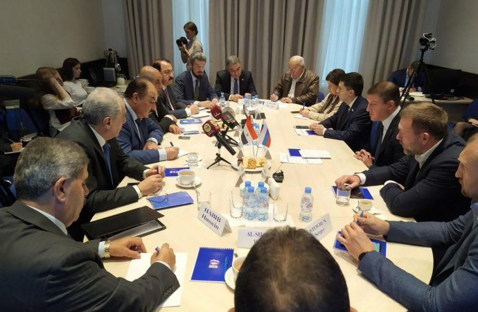 مباحثات بين حزب البعث و حزب روسيا الموحدة