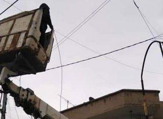 الحسكة: إنجاز صيانات لعدة مراكز وشبكات الخطوط الكهربائية