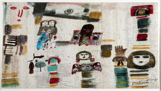 لوحة للفنان فاتح المدرس