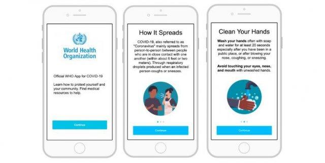 تطبيق للصحة العالمية بشأن كورونا وشائعاته