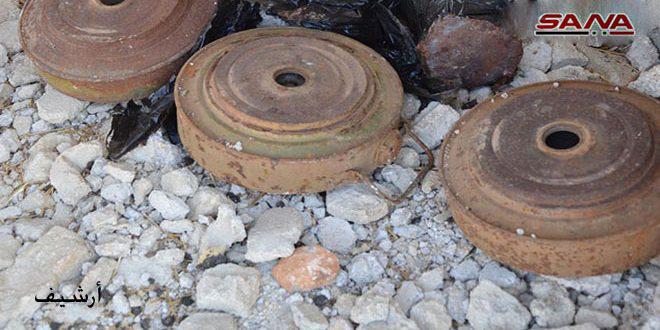 انفجار لغم في بيت تيما بريف دمشق