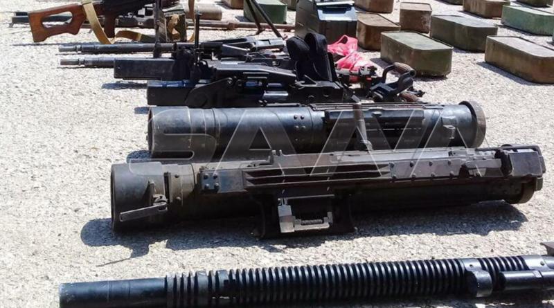 ضبط أسلحة معدة للتهريب إلى الإرهابيين بريف إدلب الشمالي