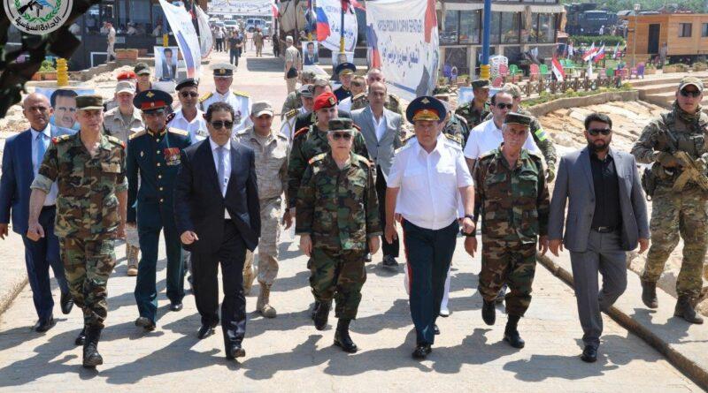 وزير الدفاع يشارك بالاحتفال بعيد الأسطول البحري الروسي في طرطوس