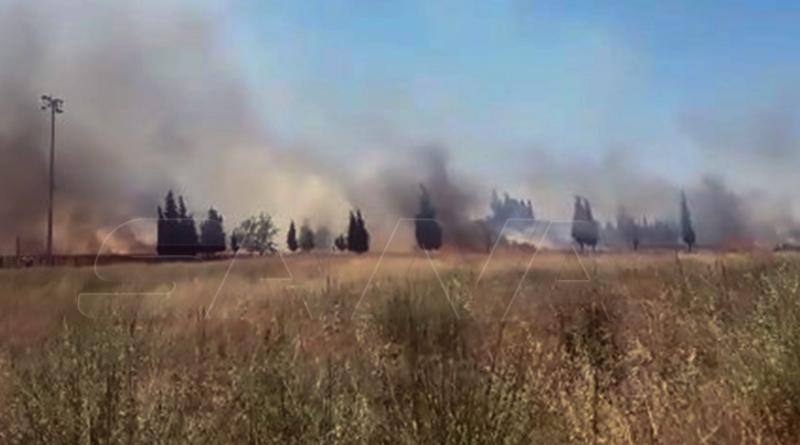 حمص - حريق