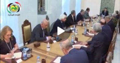 فيديو اجتماع القيادة المركزية للحزب برئاسة الرفيق د. بشار الأسد الأمين العام لحزب البعث العربي الاشتراكي حول تجربة الإستئناس الحزبي