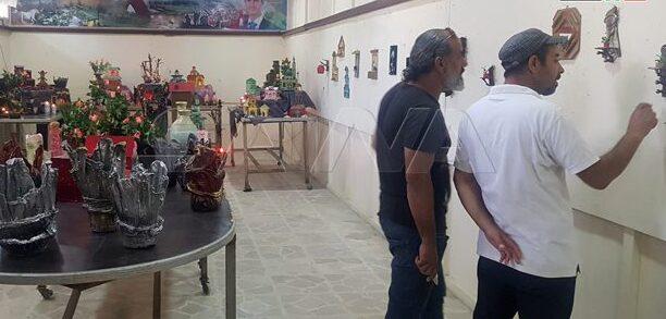 معرض للمجسمات الفنية المصنوعة من توالف البيئة بثقافي الحسكة