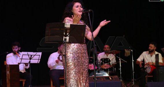 إيناس لطوف بحفل طربي على مسرح دار الأسد للثقافة باللاذقية
