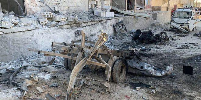 انفجار مفخخة في بلدة سلوك بريف الرقة