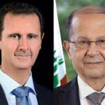 الرئيس الأسد يرسل برقيه عزاء ومواساة للرئيس اللبناني ميشال عون