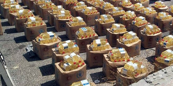 مساعدات غذائية للمتضررين من الحرائق في مصياف والغاب