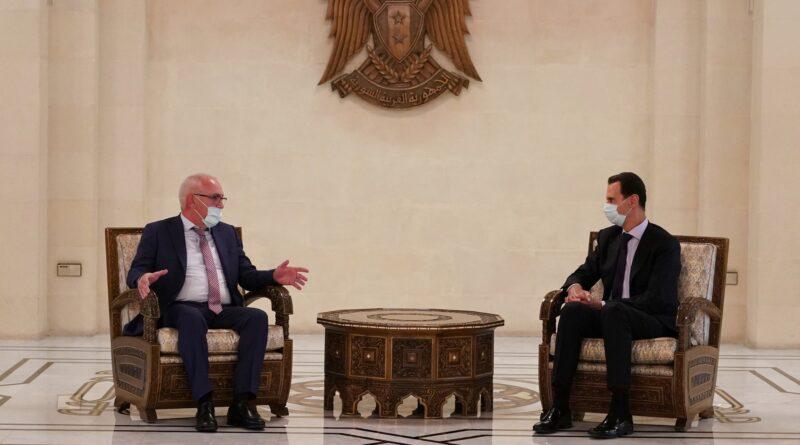 الرئيس الأسد يستقبل وفداً من أبخازيا