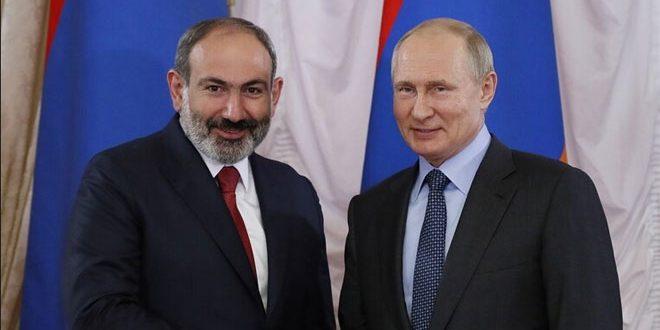 بوتين لرئيس وزراء أرمينيا: ضرورة وقف العمليات العسكرية في إقليم قره باغ