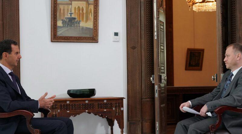 """مقابلة السيد الرئيس بشار الأسد مع وكالة """"روسيا سيغودنيا"""" الإخبارية الروسية"""