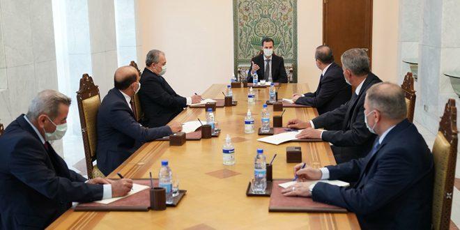 أمام الرئيس الأسد.. محافظو الرقة والقنيطرة ودير الزور وإدلب يؤدون اليمين القانونية