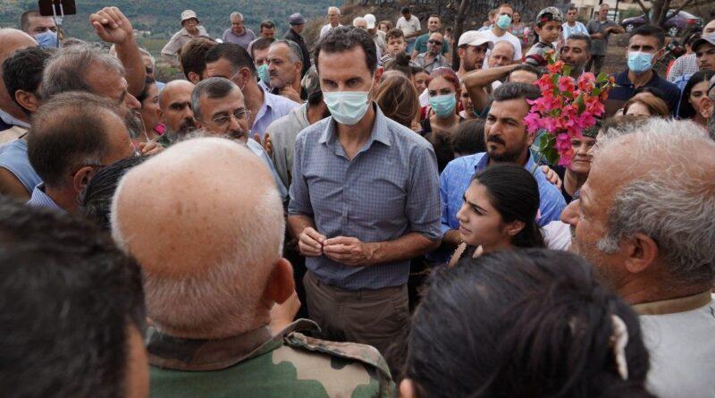 الرئيس الأسد في مشتى الحلو