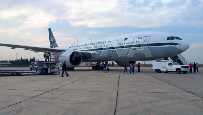 مساعدات طبية باكستانية تصل إلى مطار دمشق الدولي