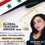 السورية نغم علي تفوز بجائزة المعلم العالمي للعام 2020