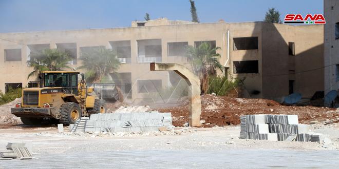 تأهيل 147 مدرسة متضررة جراء الإرهاب في درعا