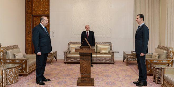 أمام الرئيس الأسد… محافظ ريف دمشق يؤدي اليمين القانونية