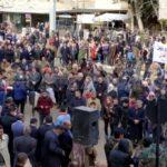 """وقفة احتجاجية لأبناء الحسكة احتجاجاً على قطع المحتل التركي مياه الشرب ورفضاً لانتهاكات """"قسد"""""""
