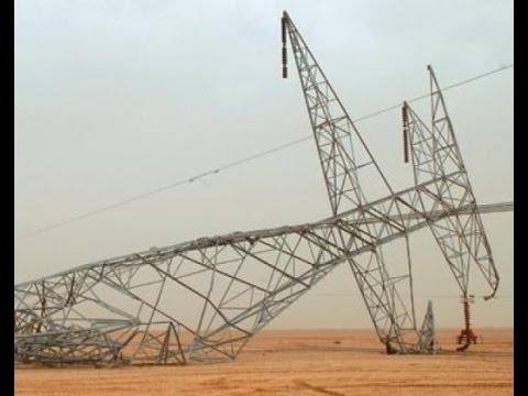 انهيار أبراج كهربائية في ريف القامشلي