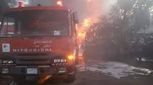 إخماد حريقين بمحيط ساحة السبع بحرات ومنطقة ابن عساكر في دمشق