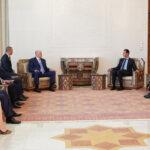الرئيس الأسد يستقبل رئيس جمهورية أبخازيا ويبحثان مجالات التعاون الثنائي وآفاق تطويره والمواضيع ذات الشأن السياسي