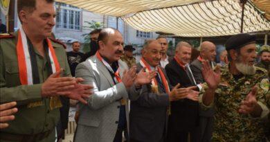 الهلال خلال احتفال جماهيري بالسويداء: جبل العرب كان وسيبقى وفياً للوطن وقائده